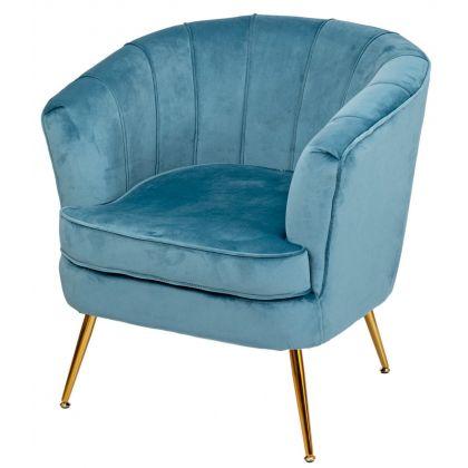 Muszelka fotel niebieski -...