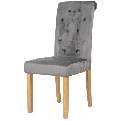 Krzesło Emi szare naturalne...