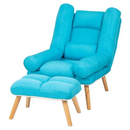 Fotel Fogo jasnoniebieski