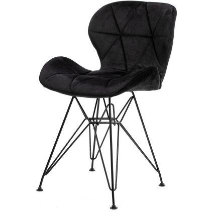 Krzesło Musa czarne  z...