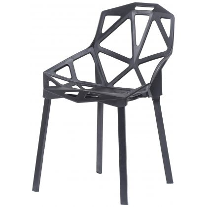 Azur krzesło loftowe czarne