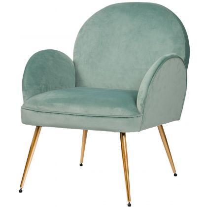 Fotel Luna miętowy