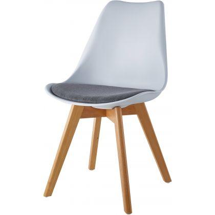 Krzesło Blanc Biały z szarą...