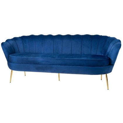Muszelka sofa granatowa -...