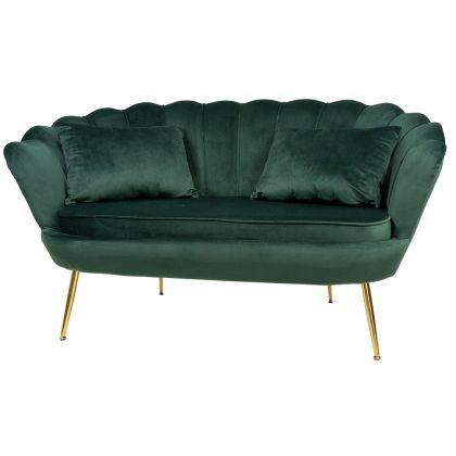 Muszelka sofa ciemnozielona...