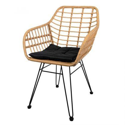 Krzesło rattanowe - czarne...