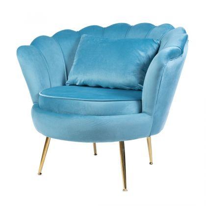Muszelka fotel niebieski...