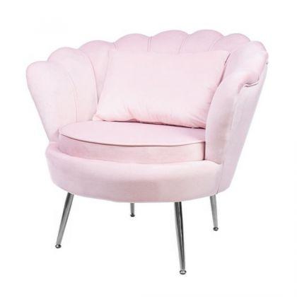 Muszelka fotel różowy...