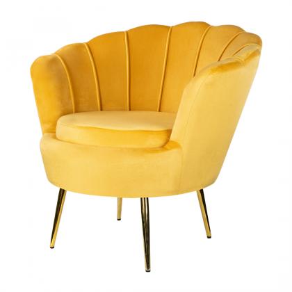 Muszelka mała fotel żółty -...