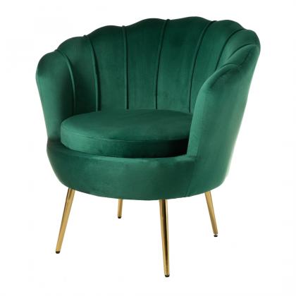 Muszelka mała fotel zielony...